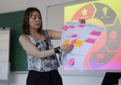 Thaysa, do NaSala em nosso Workshop Empreendedorismo Consciente no Hacktown SRS 2017 em Minas